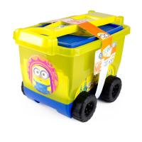 MINIONS My Creative Trolley with 30pcs Creative Accessories Set, Yellow/Blue (CMIN148)