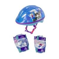 DISNEY Frozen Kid's Activities Small Helmet, Small Knee Pads and Extra Small Elbow Pads Protection Set, Multi-colour (OFRO204)