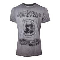 JACK DANIEL'S Charcoal Mellowed 'Drop by Drop' T-Shirt, Male, Small, Grey (TS050400JDS-S)