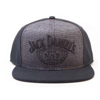 JACK DANIEL'S Embroidered Logo Snapback Baseball Cap, Black/Grey (SB221534JDS)