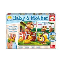 EDUCA Baby & Mother Early Learning Jigsaw Puzzles, 6 Piece Set (16845)