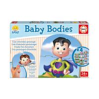 EDUCA Baby Bodies Early Learning Jigsaw Puzzles, 4 Sets of 3 Pieces (16222)