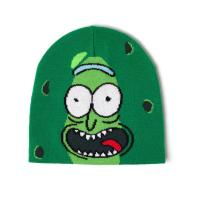 RICK AND MORTY Pickle Rick Face Cuffless Beanie, Green (KC853334RMT)