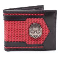 MARVEL COMICS Ant-man & The Wasp Ant-man Helmet Metal Badge Bi-fold Wallet, Male, Black/Red (MW525406ANW)
