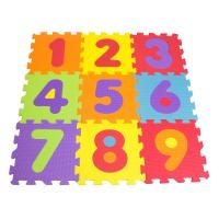 DARPEJE Children's Numbers Floor Mat Puzzle with 9 Pieces, Ages Ten Months and Above, Unisex, Multi-colour (TTMZ003)