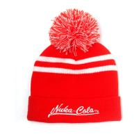 FALLOUT 76 Embroidered Nuka-Cola Logo Bobble Beanie, Unisex, One Size, Red/White (KC126350FOT)