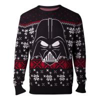 STAR WARS Star Wars The Last Jedi Darth Vader Christmas Knitted Sweater, Male, Small, Black (KW365064STW-S)