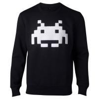 SPACE INVADERS Chenille Invaders Sweater, Male, Small, Black (SW324063SPI-S)