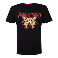 AGGRETSUKO Retsuko Rage Trash Metal T-Shirt, Male, Small, Black (TS713761AGG-S)