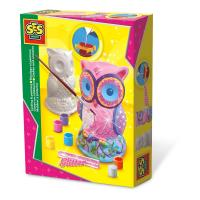SES CREATIVE Children's Owl Casting and Painting Set, 6 to 12 Years, Multi-colour (01285)