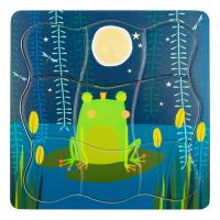 LEGLER Small Foot Children's Frog King Layer Puzzle, Unisex, Three Years and Above, Multi-colour (11539)