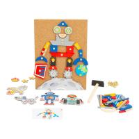 LEGLER Small Foot Children's Robots Hammering Game, Unisex, Six Years and Above, Multi-colour (11572)