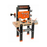 BLACK & DECKER Children's Bricolo Center Workbench Playset, Unisex, 3 to 8 Years, Black/Orange (7600360701)